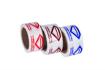 סרט דבק PVC איכותי לבן רחב, 3 אינץ רוחב, 60 מטר אורך,מודפס צבע אחד