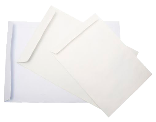 """מעטפה לבנה 16X23.7 ס""""מ"""