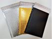 מעטפות מרופדות מאלומיניום בצבע זהב