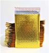 מטיריאלס מעטפות מרופדות בצבע זהב