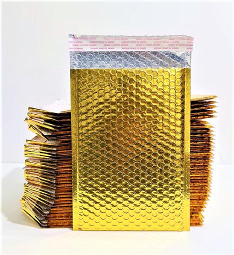 מטיריאלס מעטפות מרופדות בצבע זהב G