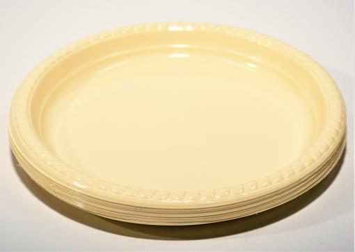 תמונה של צלחת פלסטיק 9 חד פעמי קשיח גדול 100 יח'